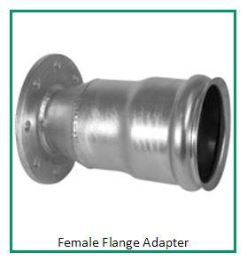 Crown Am Ring Lock Flange Adapter-Galvanized