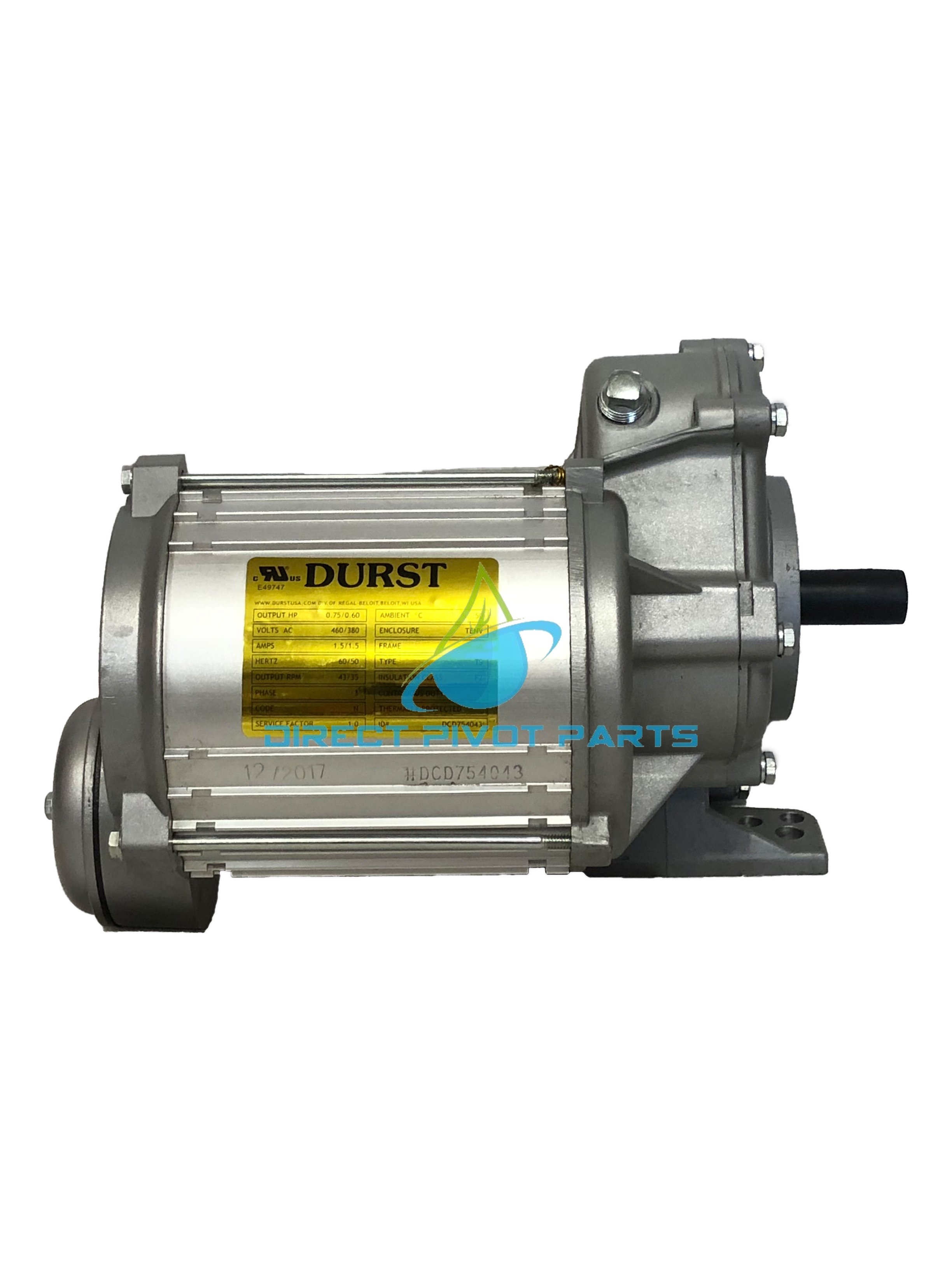 Durst Pivot Center Drive 1.5 H.P. 57 RPM Gear Ratio 30:1