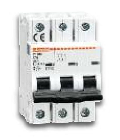 3 Poles - Curve D - Miniature Circuit Breakers